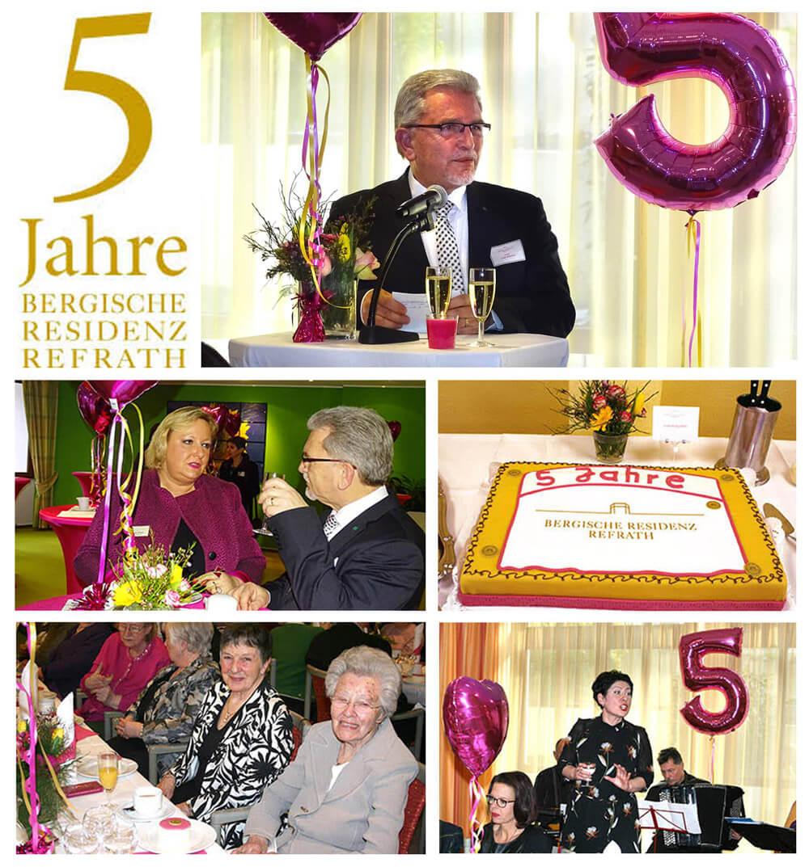 Bergische Residenz Refrath feierte 5-jähriges Bestehen.